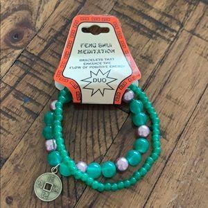 3/$10 NWT feng shui energy green bracelet